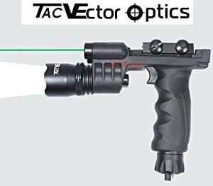 Vector Optics Tactical Fore Head Handle Grip Flashlight w  Green Laser Combo Sight by Vector Optics