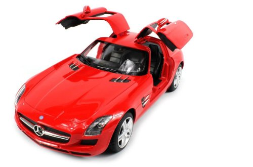 Officially Licensed Mercedes-Benz Sls Amg 1:14 Scale Ready To Run W/ Opening Gull Wing Doors (Colors May Vary)