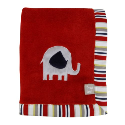 Trend Lab Elephant Parade Framed Receiving Blanket With Embroidery