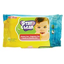 Nuby Disposal Wet Wipes (80 Pieces) (Clear)