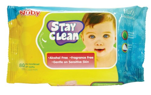 Nuby Stay Clean Disposal Wet Wipes