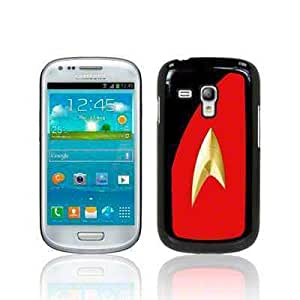 Samsung i8190 Galaxy S3 Mini Film TV Collection Star Trek Uniform Red Glossy Hard Back Cover Case / Shell / Shield by Call Candy