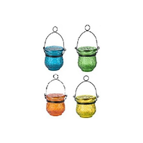 Northern Int'l Solar Glass Jar/Table Lights, Sold Individually (Colors May Vary)