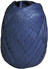 Rayher 52002376Premium Papel rafia, 100% fibra de madera, knäuel 75m, color azul