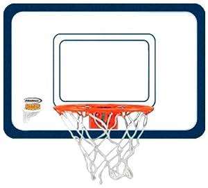 Halex Door Hanging Acrylic Basketball Hoop with 4-Inch Basketball (White and Orange)