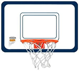 Halex Door Hanging Acrylic Basketball Hoop with 4-Inch Basketball (White and Orange)