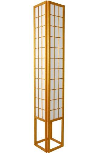 Outstanding Unusual Interesting Cool Floor Lamps - 6ft. Japanese Shoji Oriental Paper Lantern - Honey