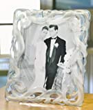 Fifth Avenue Crystal Lucria Frosted Picture Frame, 8 by 10-Inch