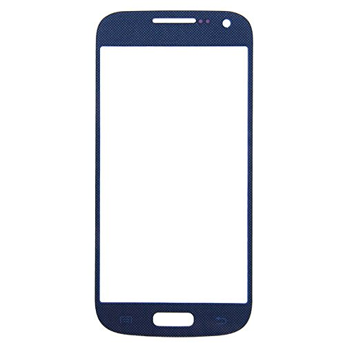 New White/Blue/Red Front Touch Screen Outer Panel Glass Digitizer Lens Replacement For Samsung Galaxy Front Glass Lens Outer Screen Cover Repair For Samsung S4 Mini I9190, Epacket Shipping (Blue)