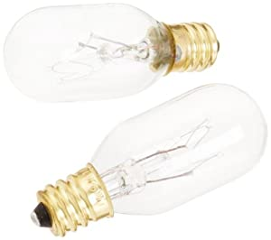Jerdon JPT25W 25-Watt Replacement Light Bulbs for Lighted Mirrors, 2-Pack