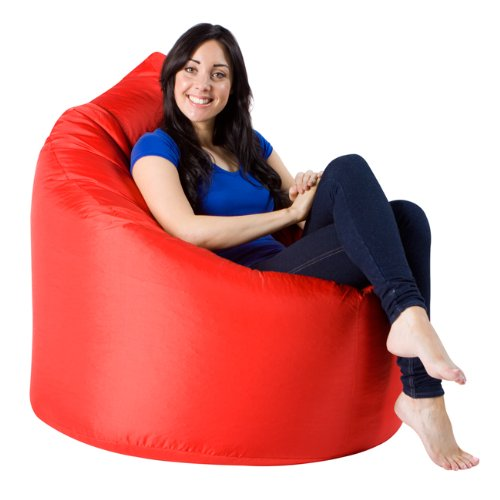 Adult XXL Giant Bean Bag Chair - Luxury Teardrop Beanbag - RED Indoor & Outdoor Bean Bags