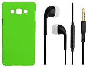 Toppings Hard Case Cover With 3.5mm Stereo Earphones For Samsung Galaxy J1Ace - Green