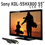 "Sony KDL-55HX800 55"" 1080p 3D Ready LCD TV + Free 6FT HDMI Cable with Ether ...."