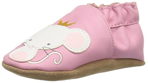 Robeez Girls' Princess Slip-On, Pink, 6-12 Months M US Infant