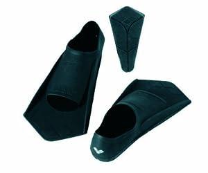 Arena Powerfin - Aletas de buceo, color negro