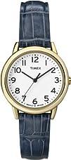 Timex Womens T2N954 Elevated Classics Dress Gold-Tone Case