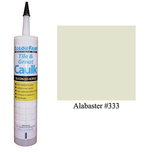 Color Fast Caulk Matched to Custom Building Products (Alabaster Unsanded) (Custom Caulk compare prices)