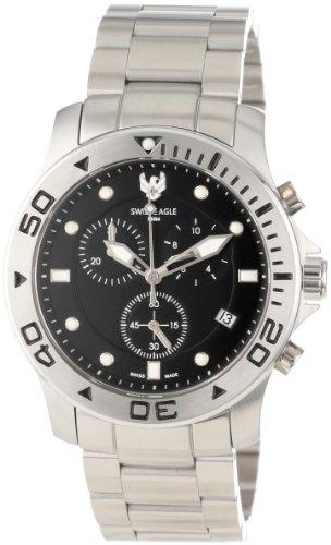 Swiss Eagle Men's SE 9001-11 Sea Bridge Chronograph Black Watch