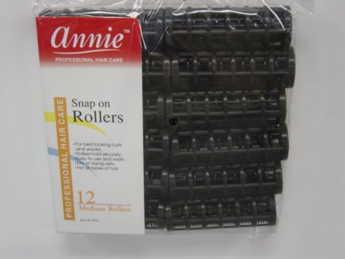 Annie Snap On Rollers (Black) Size: Medium