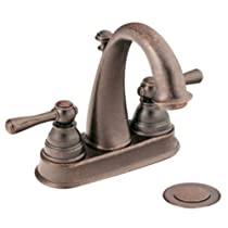 Big Sale Best Cheap Deals Moen CA6121ORB Kingsley Two-Handle High Arc Bathroom Faucet, Oil Rubbed Bronze
