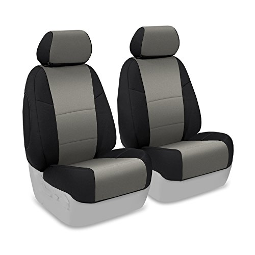Coverking Custom Fit Front 50/50 Bucket Seat Cover for Select Infiniti FX-35/45 Models - Neoprene (Medum Gray with Black Sides) (Fx 35 Seat Cover compare prices)