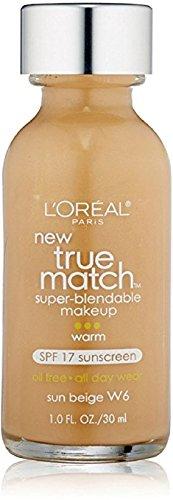 LOreal-Paris-True-Match-Super-Blendable-Makeup,-Sun-Beige-[W6]-1-oz-(Pack-of-12)