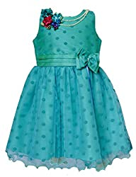 Petals Girls Synthetic frock (GFP-1260-blue-28)