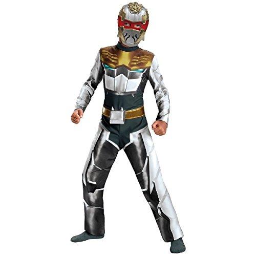 [GSG Robo Knight Megaforce Classic Costume Kids Power Rangers Halloween Dress] (Red Megaforce Power Ranger Costume)
