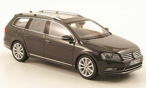 VW-Passat-Variant-B7-dkl-grau-2010-Modellauto-Fertigmodell-Schuco-143