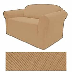 Buy stretch form fit 3 pc slipcovers set couch sofa for Buy sofa covers online