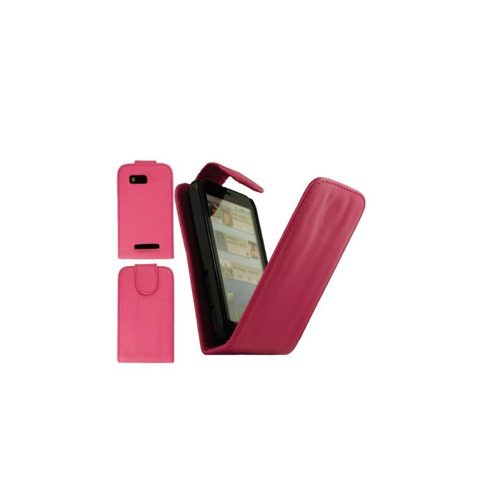 SAMRICK   Motorola Defy Pink Specially Designed Leather Flip Case