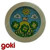 Juego de ENCAJAR LA BOLITA modelo CERDITO Juego de paciencia y habilidad GOKI realizado en madera