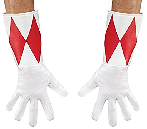 Power Rangers Red Ranger Costume Gloves Adult One Size