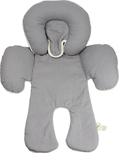 DorDor & GorGor Baby Back & Body Support Pillow - Multifunction - Certified Organic Cotton, Gray