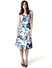 Per Una Pure Linen Floral Fit & Flare Dress