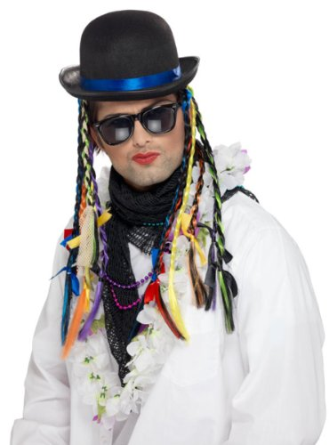 Boy George Karma Chameleon Bowler Hat with Plaits