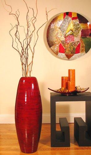 "28"" Cylinder Bamboo Floor Vase"