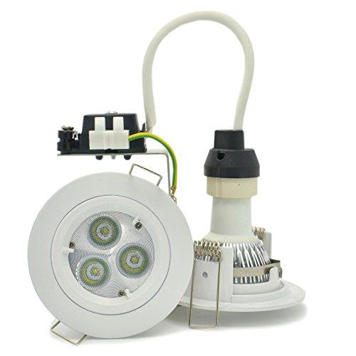 4-Pack Brillight 6W Creexlamp Led Recessed Round Downlight Kit, Cool White 6000 Kelvin