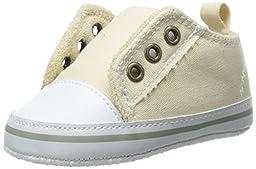 Luvable Friends Laceless Sneaker (Infant), Beige, 0-6 Months M US Infant