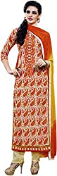 Tangerines Women's Embroidered Lawn Cotton Unstitched Dress Material