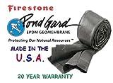 12' X 15' EPDM Rubber 45 ml FIRESTONE POND LINER-water garden-pool-Fish safe!
