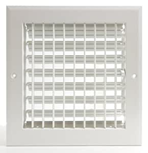 6quot x 6quot adjustable diffuser vent duct cover grille for Canadian tire bathroom fan