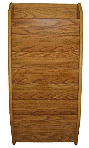Wooden Mallet 7-Pocket File Holder, Legal Size, Medium Oak