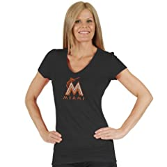 MLB Ladies Tri Blend Multi Count V Neck Tee by Soft As A Grape