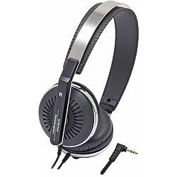 Audio Technica ATH-RE70BK Classic Retro Style On-Ear Headphones