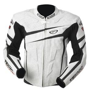 Teknic Chicane Leather Jacket - 48/White/Black