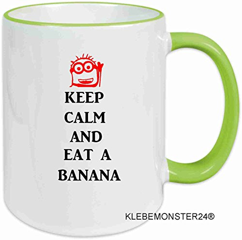tasse mit spruch keep calm and eat a banana. Black Bedroom Furniture Sets. Home Design Ideas