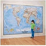 """National Geographic 9'2""""x6'4"""" Classic World Map Mural"""