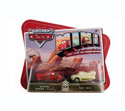 Disney / Pixar CARS Movie Toy Mini Adventures Sarge's Boot Camp Ramone & Flo - 1