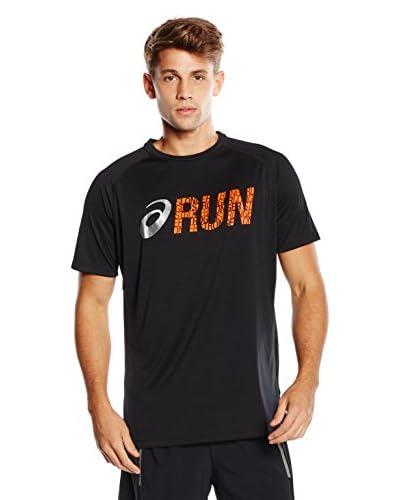 Asics T-Shirt Manica Corta Graphic [Arancione]
